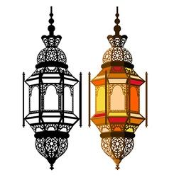 Arabic lantern vector image vector image