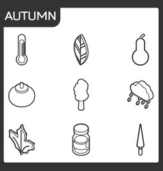 autumn isometric icons vector image vector image