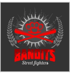 Bandits and hooligans - emblem of criminal vector image vector image