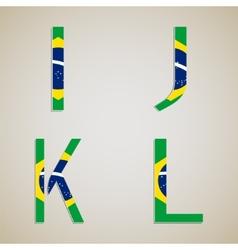 Brazil Style Font Set vector image vector image