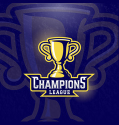 Champions league prize cup sport trophy vector