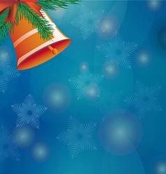 Christmas bell ribbon vector image vector image