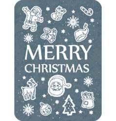 Christmas card dark grey vector