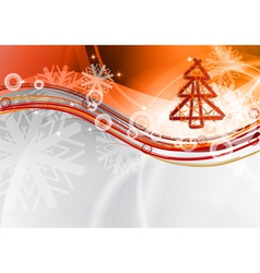 christmas wave vector image vector image