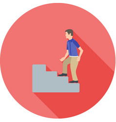 climbing stairs vector image vector image