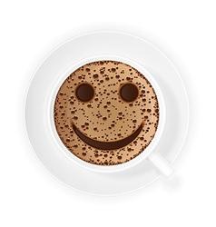 coffee crema 03 vector image vector image