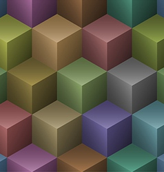 color cubes seamless pattern vector image