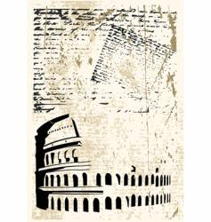 Colosseum background vector image vector image