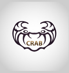 Crab logo icon design vector