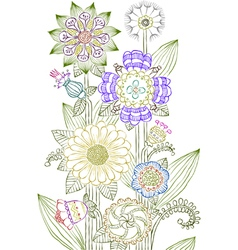 flowers draw vector image