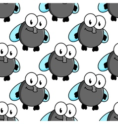Fly cartoon characters seamless pattern vector image vector image