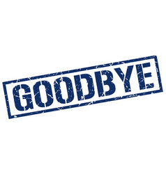 Goodbye stamp vector