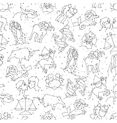 horoscope seamless pattern all zodiac signs in vector image