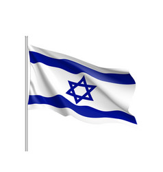 israel national flag realistic vector image vector image