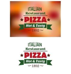 Italian pizza restaurant emblems or labels vector image vector image