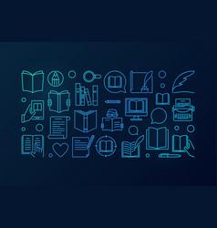 literature blue vector image vector image