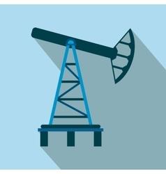 Oil pump flat icon vector image vector image