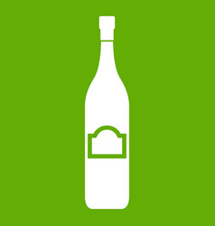 one bottle icon green vector image vector image