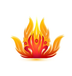 People on fire logo vector image