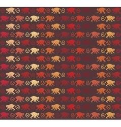 Red Monkeys seamless pattern vector image