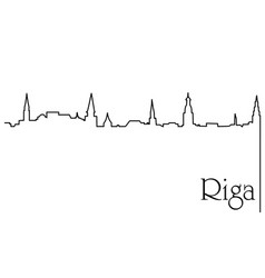 Riga city one line drawing background vector