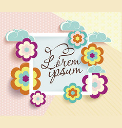 Romantic scrapbooking card vector