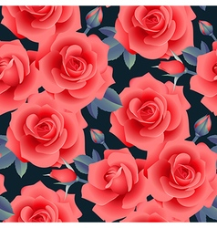 rose pattern night vector image vector image