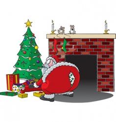 Santa rips pants vector