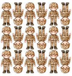 Seamless background design with toy soldiers vector