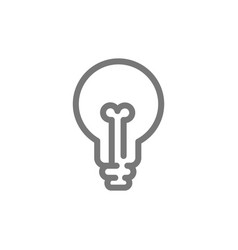 Simple light bulb line icon symbol and sign vector