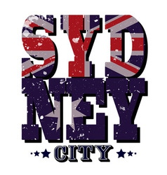 Sydney city t-shirt typography vector