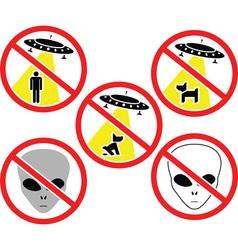 Ufo warning signs vector