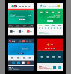Web site schemes templates set vector