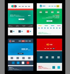 web site schemes templates set vector image vector image