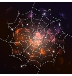 White cobweb on dark background vector