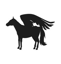 winged horse pegasus or flying mustang mascot vector image
