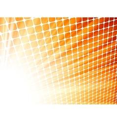 Red yelloe rays light 3D mosaic EPS 8 vector image