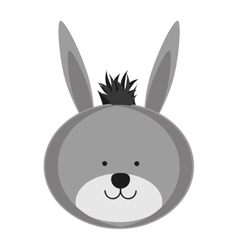 Donkey animal icon image vector