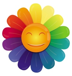rainbow flower vector image