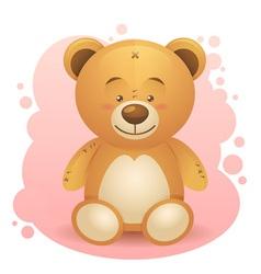 Cute teddy bear children toy vector
