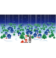 winter landscape banner christmas design with vector image