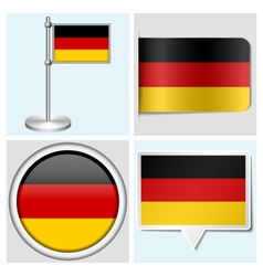 Germany flag - sticker button label flagstaff vector