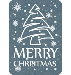 Christmas card grey vector