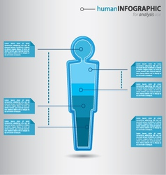 Human man figurine with graphic value presentation vector