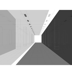 Interior in lines vector