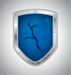 Broken security shield vector
