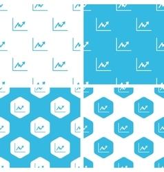Rising graphic patterns set vector