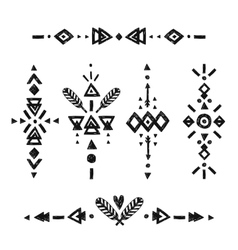 Tribal hand drawn elements vector