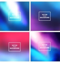 Blurred backgrounds collection vector
