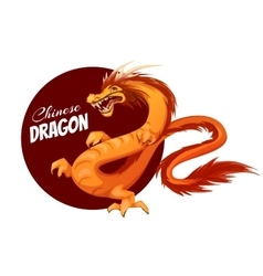 Banner with cartoon chinese dragon vector